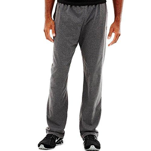 Hanes P7309 Mens Open Bottom Jersey Pants, Oxford Grey Medium 00078715159931