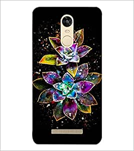 PrintDhaba Digital Flower D-4312 Back Case Cover for XIAOMI REDMI NOTE 3 (Multi-Coloured)