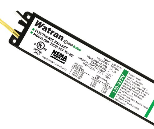 Electronic Fluorescent Ballasts T5 Program Start, 120/ 277V, 2/1 F54 Ho/Fc12 Ho/Cft55 2G11/Cft50 2G11, 50/60Hz (Db-254Ho-Mv-Tp-Ps-Sl), Code: 80218, Watran