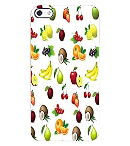 ColourCraft Fruits Design Back Case Cover for APPLE IPHONE 4S