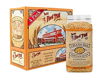 Bob's Red Mill Chana Dal Beans / Split Desi Chickpea, 24-ounce (Pack of 4) by Bob's Red Mill