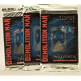 1993 Skybox International Demolition Man Trading Cards 21 Packs Each Pack Contains 8 Cards 168 Cards Total Still Sealed In Packages In Original Box Out Of Production Very Rare Collectible