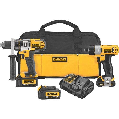 Dewalt Dck294L3 20-Volt Max Li-Ion Hammer Drill 3.0 Ah/12-Volt Max Screwdriver Combo Kit
