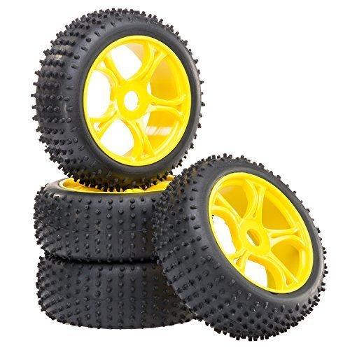 Buggy-Reifen-Felgenset-REX-X-mit-5-Doppelspeichenfelge-gelb-18-partCore-320017