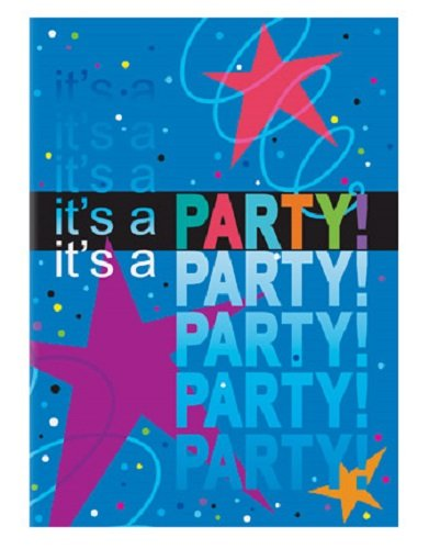 Cosmic Birthday Party Invitations 8ct - Adult / Children Party Supplies