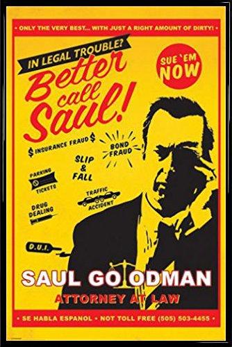 Breaking Bad Poster Stampa e Cornice (Plastica) - Better Call Saul Attorney At Law (91 x 61cm)