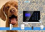 Eray Tierimmuner GSM Funk-Alarmanlagen-System inklusive umfangreichem Zubehör, mit Einfache Bedienung Bildschirmmenü