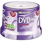 Memorex : Disc DVD+R 4.7GB 50/spindle 16X -:- Sold As 2 Packs Of - 50 - / - Total Of 100 Each