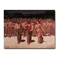 Il Quarto Stato by Giuseppe Pellizza da Volpedo Premium Oversize Gallery-Wrapped Canvas Giclee (Ready to Hang)