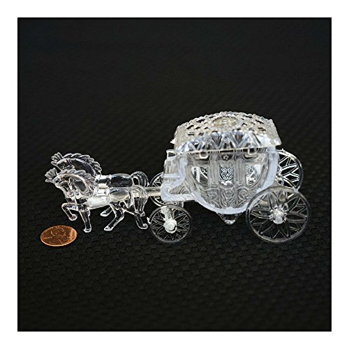 Royal Vintage Cinderella Horse and Carriage Coach Cake Topper Clear Cake Decor (Cake Decoration Accesories compare prices)