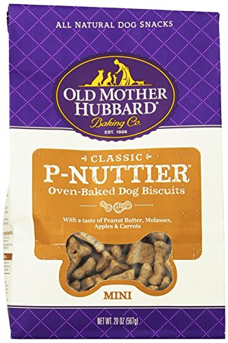 Old Mother Hubbard Crunchy Classic Snacks For Dogs Mini P-Nuttier, 20-Ounce Bag