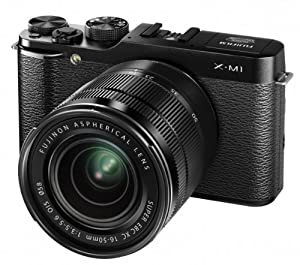 Fujifilm X-M1 Camera - Black (16.3MP, 16-50mm Lens Kit) 3 inch LCD