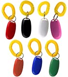 Clearance Sale - Attmu Pet Training Clicker with Wrist Strap, Dog Training Clicker Set - Set of 7