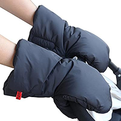 Stroller Hand Muff - IntiPal Pram Pushchair Gloves -Waterproof Anti-freeze Extra Thick Warm Winter Baby Carriage Hand Cover Stroller Accessories by Save-in-a-snap