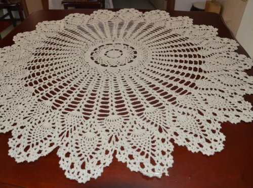 Crochet Pineapple Tablecloth