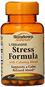 Sundown Naturals L-Theanine Stress Formula Capsules, 60 Count