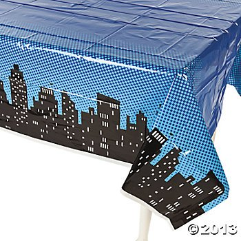"Superhero Plastic Table Cover 54'x108"" by Toto"