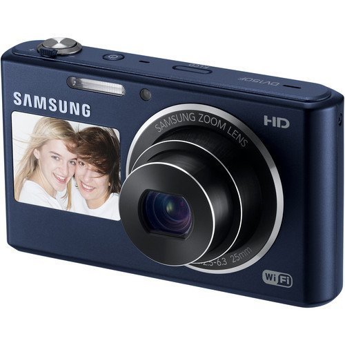 51damE990YL Samsung DV150F 16.2MP Smart WiFi Digital Camera with 5x Optical Zoom and 2 Inch front and 3 Inch Rear Dual LCD Screens (Black)