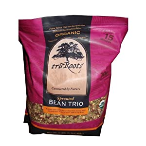 TRUROOTS ORGANIC SPROUTED BEAN TRIO 3LB BAG - GLUTEN FREE, HIGH FIBER