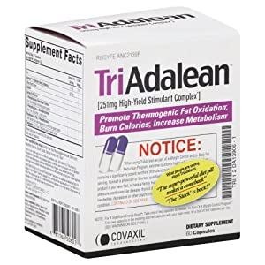 Triadalean High-yield Stimulant Complex - 60 Capsules from Covaxil Laboratories