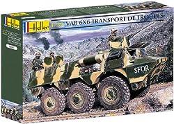Heller Vab 6 X 6 Transport De Troupes Military Land Vehicle Model Building Kit