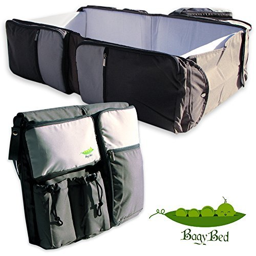 Premium 3 in 1 Travel Bassinet - Diaper Bag & Portable Changing station, Easily Convertible.