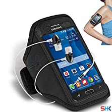 buy Samsung Galaxy Core Prime Black + Earphone Adjustable Armband Sport Gym Bike Cycle Running Jogging Sports Case Cover Holder Pouch (Cc) With Premium Quality In Ear Buds Stereo Hands Free Headphones Headset With Built In Microphone Mic And On-Off By Shukan®
