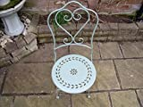Bistro Set Garden Furniture Table and Chairs Shabby Style Chic - Antique Sage Green
