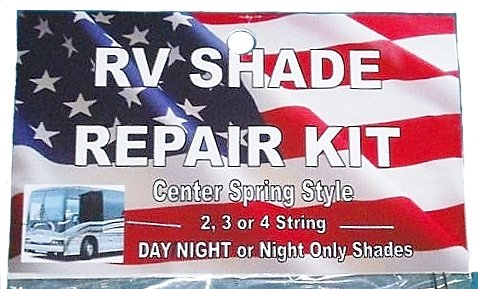 DELUXE RV Motorhome CAMPER Day Night COMPLETE SHADE REPAIR KIT with Center Spring from Shade Doctor of Maine (Rv Window Day Night Blinds compare prices)
