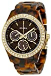 Fossil Womens ES2795 Plastic Analog with Brown Dial Watch