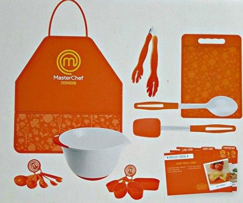 masterchef junior cooking essentials set 9 pc kit includes real cookware for kids recipes. Black Bedroom Furniture Sets. Home Design Ideas