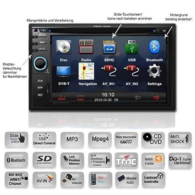 Tristan Auron BT2D7012 Naviceiver mit TMC Doppel DIN Autoradio mit Bluetooth, Sycig Navigation DVD USB SD MP3 von Tristan Auron auf Reifen Onlineshop