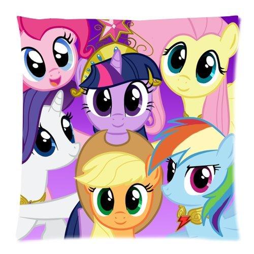 Generic Custom Cartoon My Little Pony Cute Horses Cool Design Printed Zippered Pillowcase Cushion Case 18*18(Twin Sides)