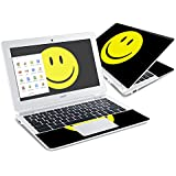 Mightyskins Protective Vinyl Skin Decal Cover for Acer Chromebook 11 CB3-111 Laptop Cover wrap sticker skins Smiley Face