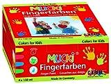 Mucki 2314 - Fingerfarben 4er Set 150 ml von MUCKI