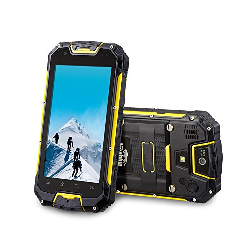 Hitop M8 Mobile Phone Ip68 Waterproof ,Shockproof ,Dustproof, Rugged ,Gsm+Wcdma Dual Card Dual Standby Quad-Core Long-Time Standby Unlocked Pocket Cell Phone (Yellow)