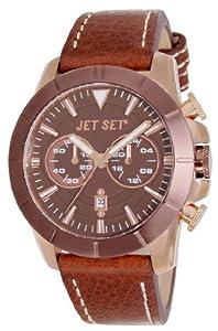 Jet Set J6339R-736 - Reloj cronógrafo de cuarzo para hombre con correa de piel, color marrón