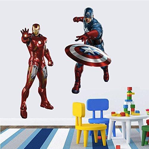 3D-Captain-America-Iron-Man-Kids-Room-Decor-Wall-Sticker-Boy-Gift-Wall-Decals