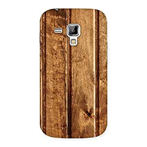 Delighted Wood Texture Back Case Cover for Galaxy S Duos