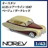 NOREV ノレブ 070013 オースチン A125 シアーライン 1947 ベージュ/ダークレッド 1/43