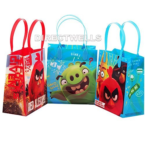 Angry Birds Authentic Licensed Small Reusable Party Favors Goodie Gift Bags ( 12 Bags) (Angry Birds Seasons Toys compare prices)