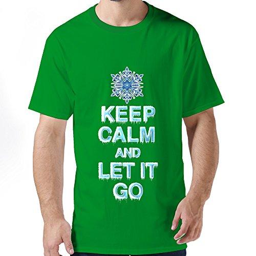 Ruifeng Man Keep Calm Let It Frozen T-Shirt - L Kelly Green