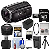 Sony Handycam HDR-PJ670 32GB Wi-Fi 1080p Projector HD Video Camera Camcorder with 32GB Card + Case + LED Light + Battery/Charger + Tripod + Filter Kit