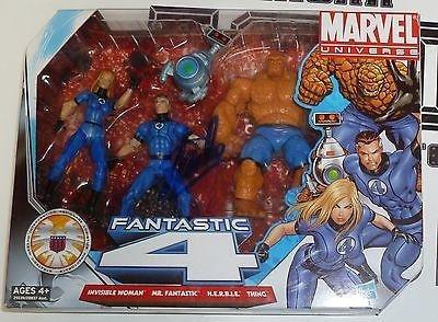 Stan Lee Signed Marvel Fantastic 4 Action Figure Toy Set Coa Autograph