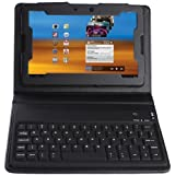 Brainydeal Folio Leather Case With Built-In Bluetooth Keyboard For Blackberry Playbook