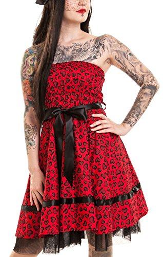 HOLLY Rockabella dell'abito DRESS leopard hearts
