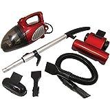 Aspiradora Compacta 2 en 1 - Vertical y de Mano - Ligera y sin Bolsa - Hepa Multi Usos - Color Rojo Caliente