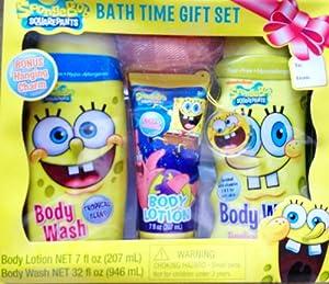 SpongeBob Squarepants Kids Bath Time Gift Set