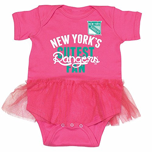 New York Rangers NHL Newborn Infant Ballerina Tutu Bodysuit Creeper (12 Months) (New York Rangers For Baby compare prices)