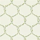 Cream / Duck Egg - 212009 - Fleur Trellis - Maycott - Sanderson Wallpaper